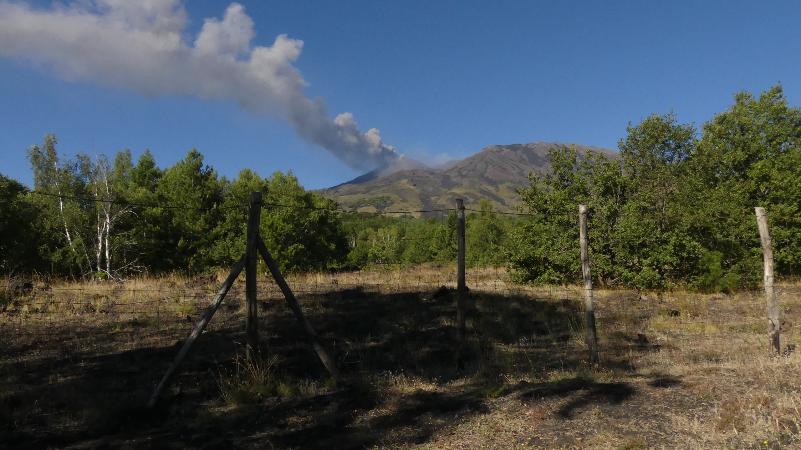 View of Etna Crater