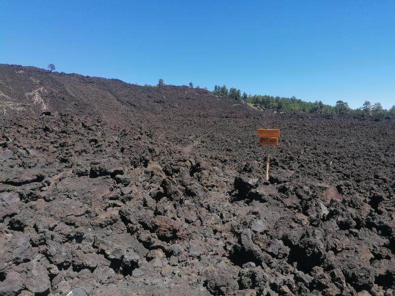 Old lava flow of Etna